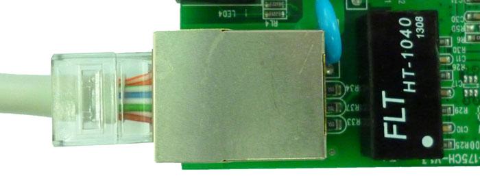 фото трансформатора и медного порта медиаконвертера