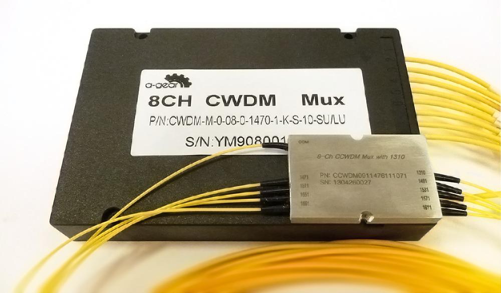 Рисунок 18 – Сравнение размеров CCWDM  и классического CWDM мультиплексоров.